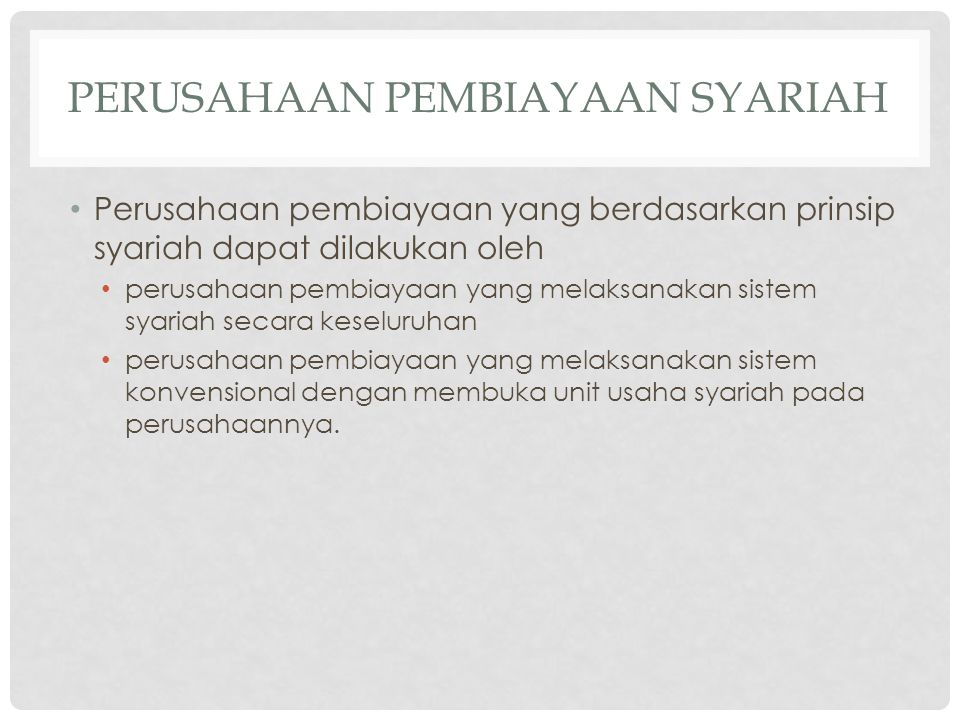 Perusahaan pembiayaan syariah