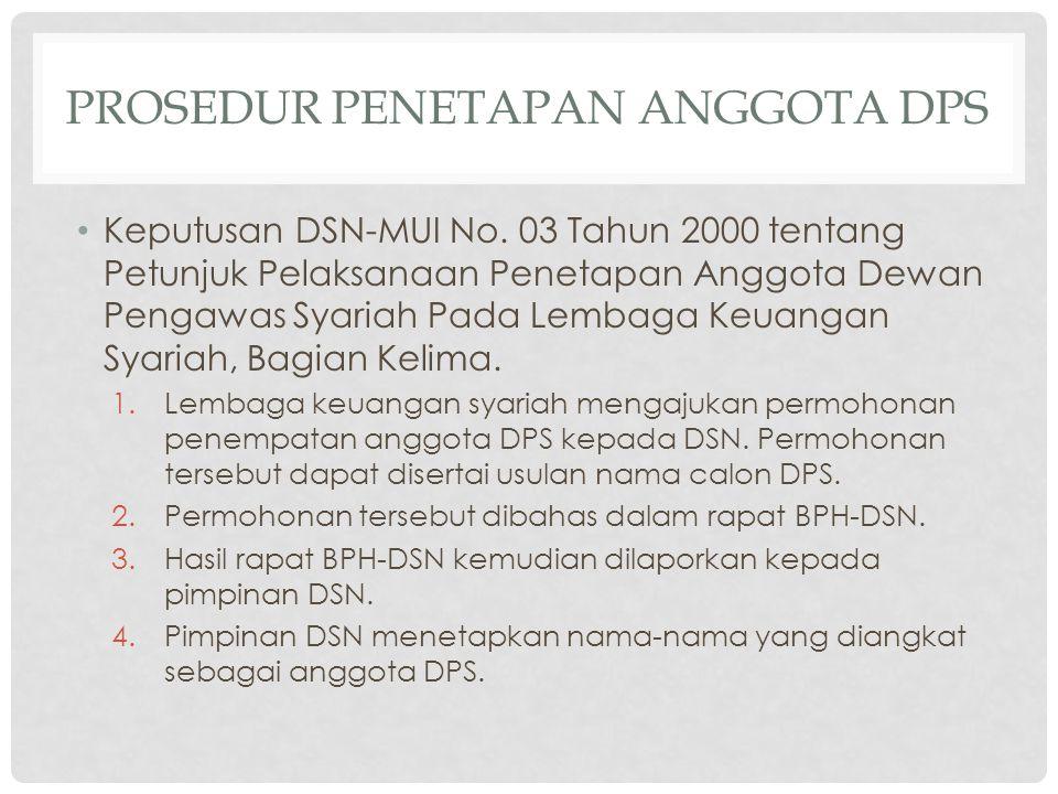 Prosedur penetapan anggota dps