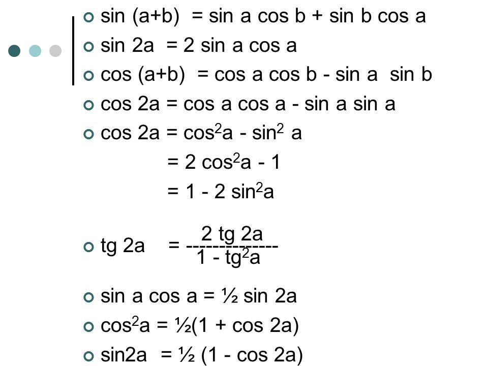 sin (a+b) = sin a cos b + sin b cos a