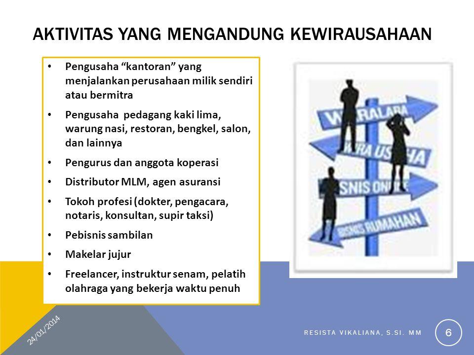 Aktivitas yang mengandung kewirausahaan
