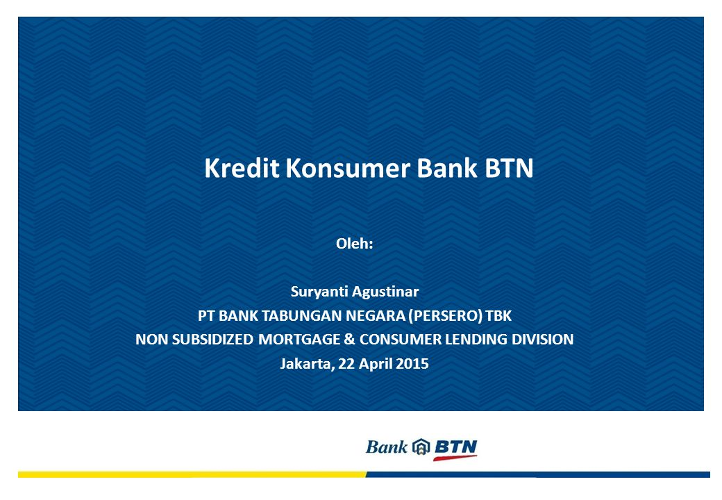Kredit Konsumer Bank BTN