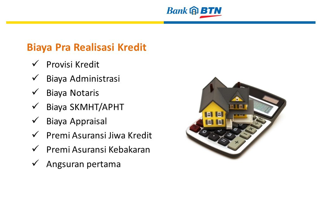 Biaya Pra Realisasi Kredit