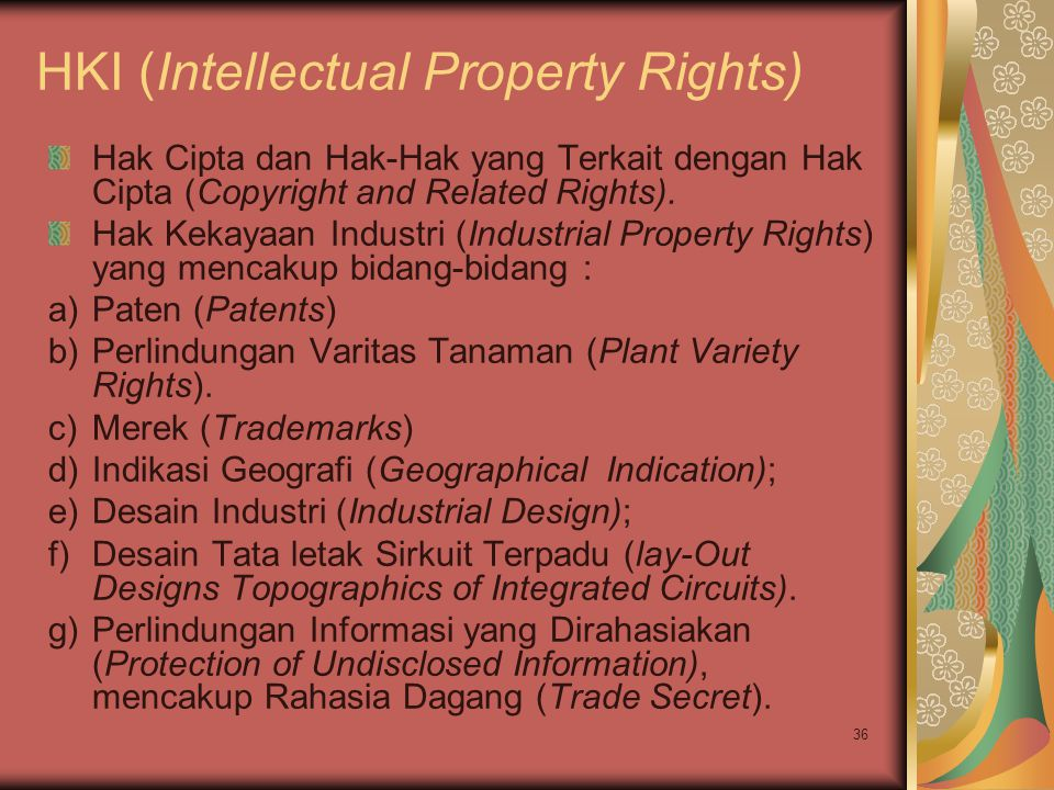 HKI (Intellectual Property Rights)