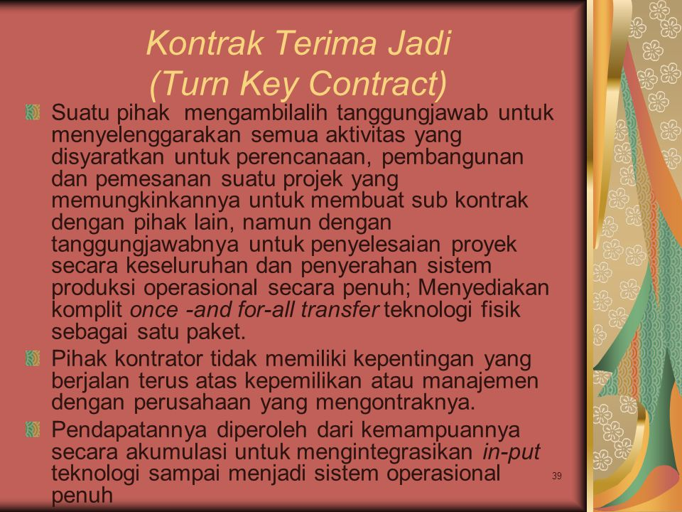 Kontrak Terima Jadi (Turn Key Contract)