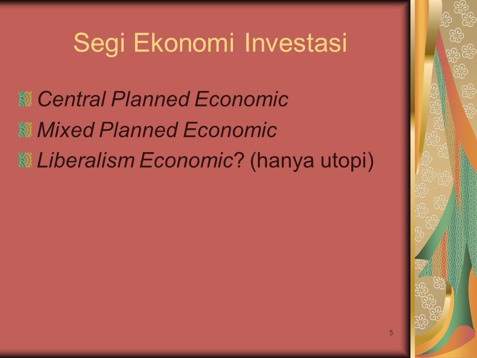 Segi Ekonomi Investasi