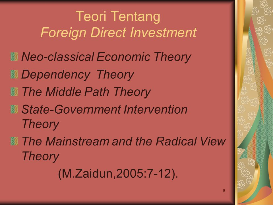 Teori Tentang Foreign Direct Investment