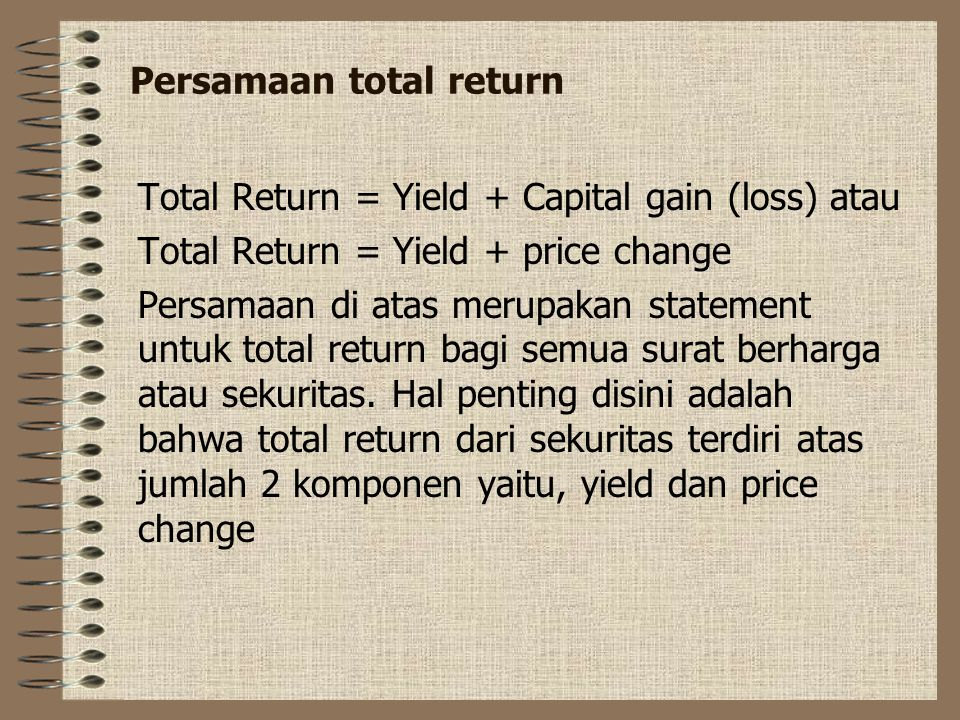 Persamaan total return