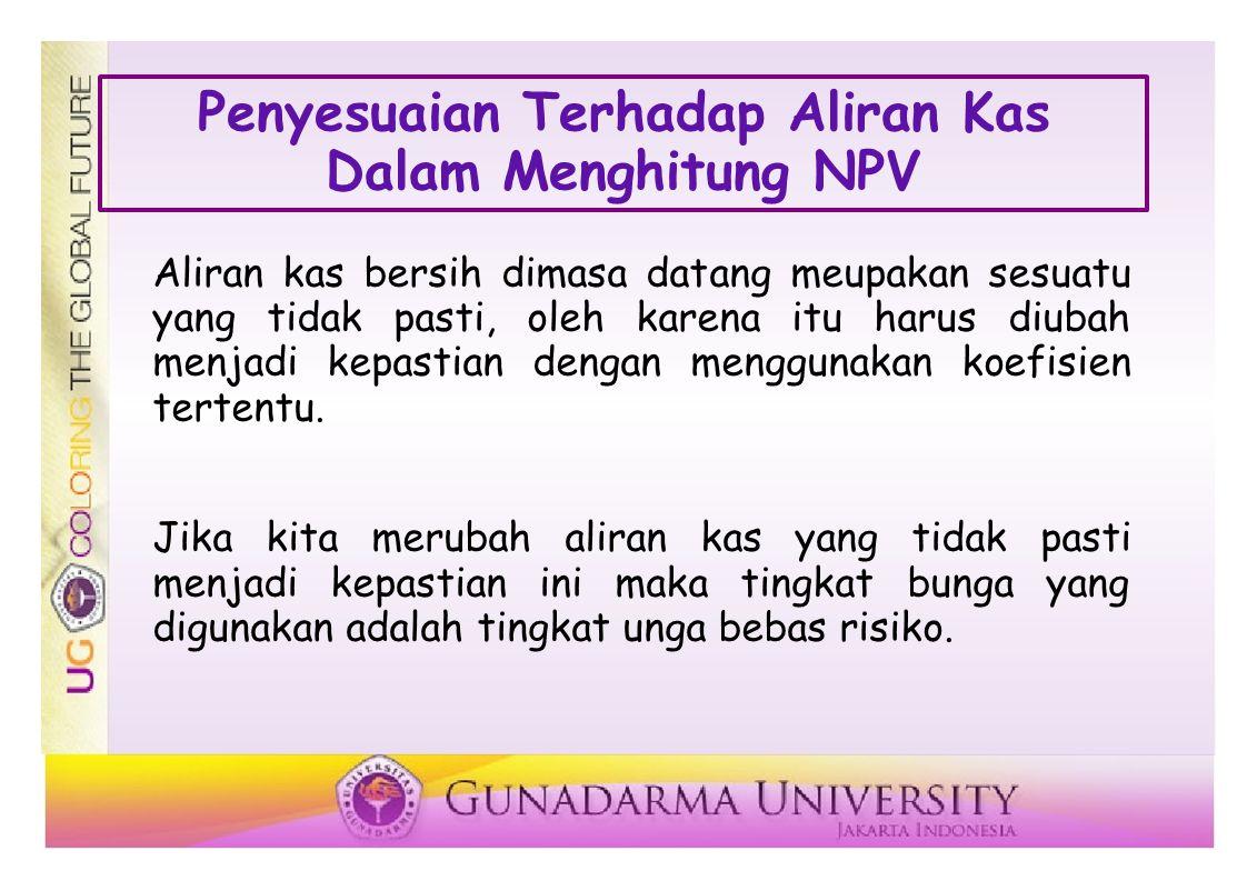 Penyesuaian Terhadap Aliran Kas Dalam Menghitung NPV
