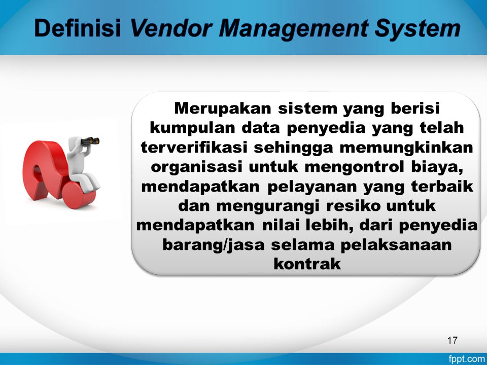 Definisi Vendor Management System
