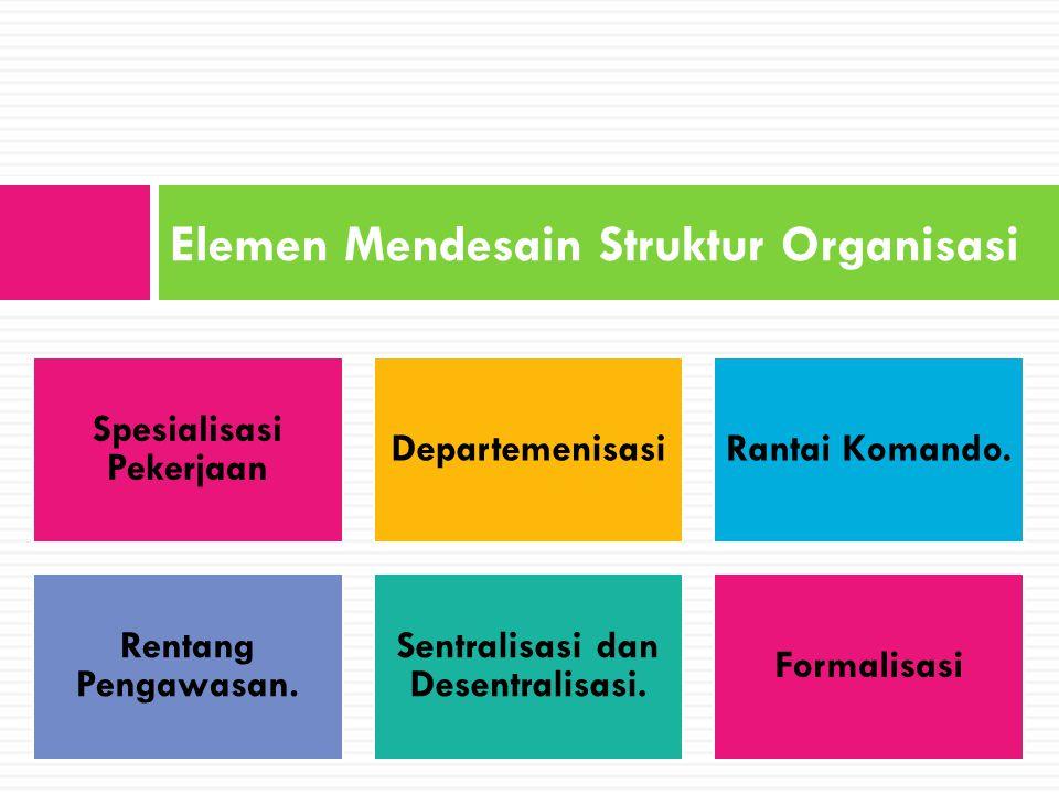 Elemen Mendesain Struktur Organisasi