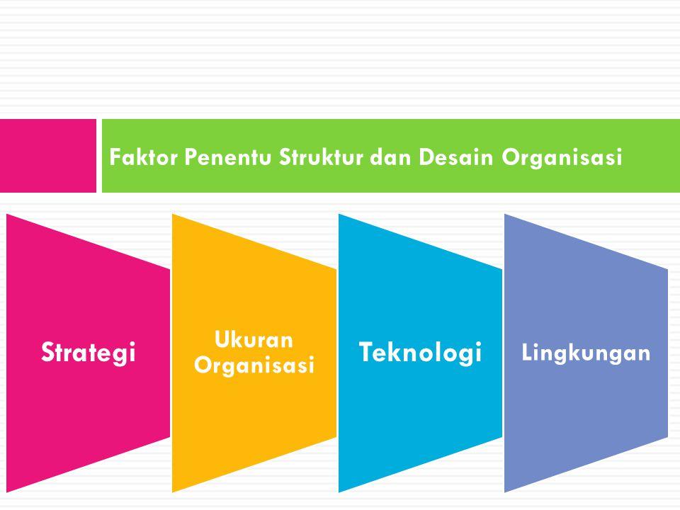 Faktor Penentu Struktur dan Desain Organisasi