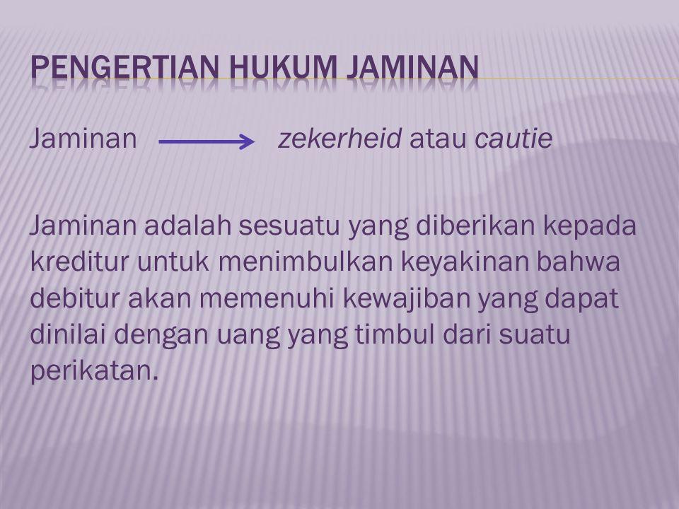 PENGERTIAN HUKUM JAMINAN