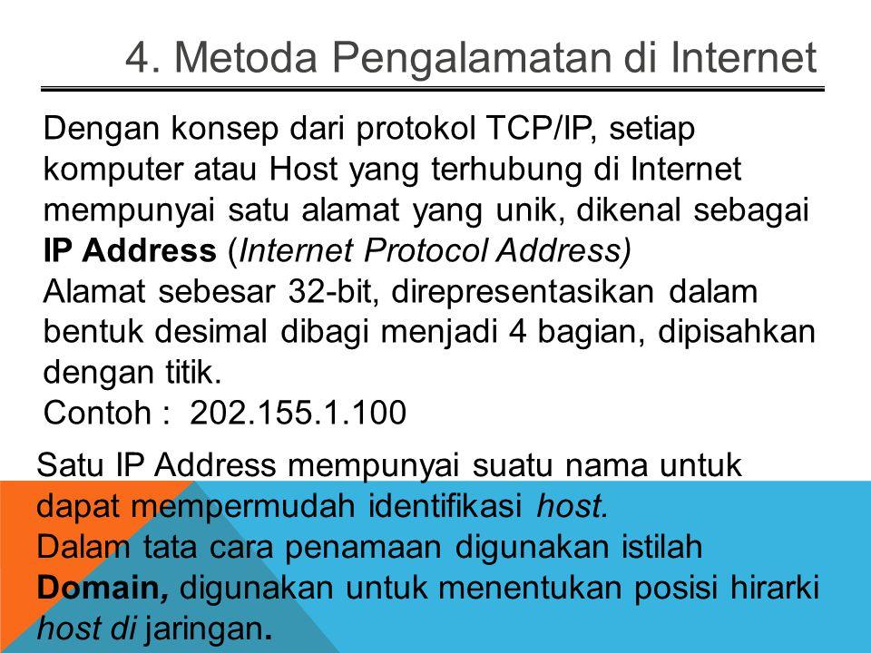 4. Metoda Pengalamatan di Internet
