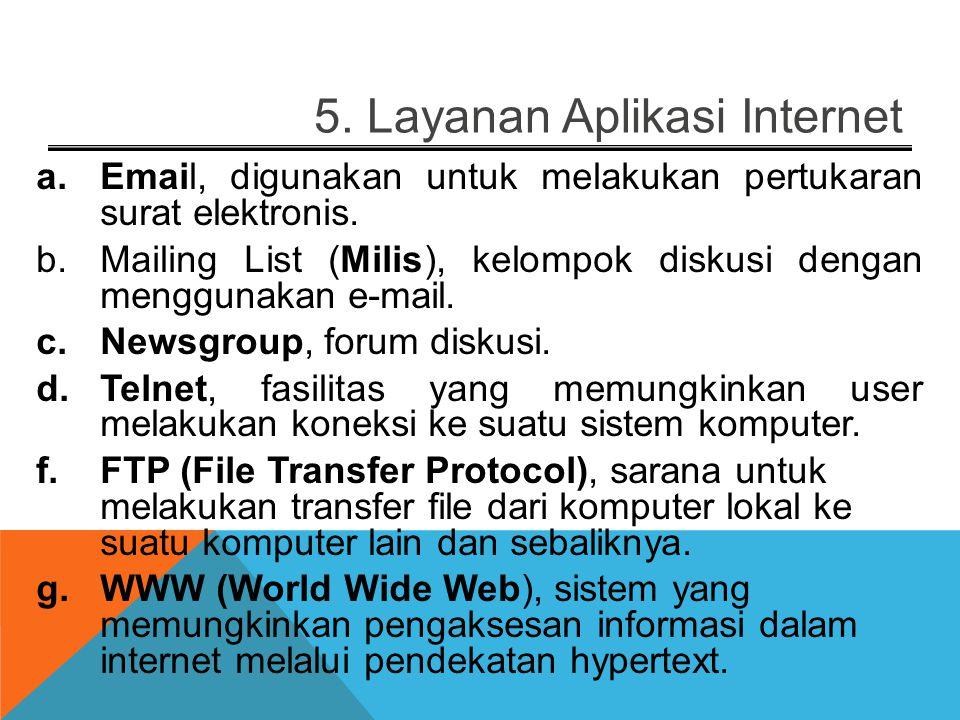 5. Layanan Aplikasi Internet