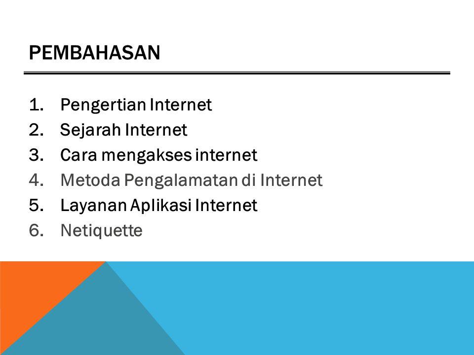 Pembahasan Pengertian Internet Sejarah Internet