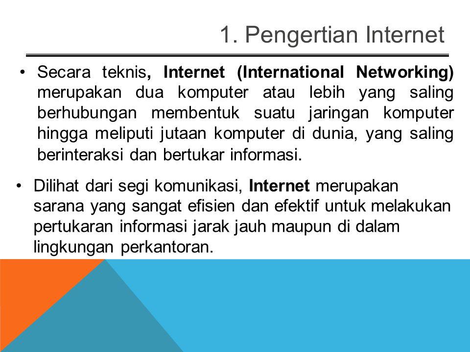 1. Pengertian Internet