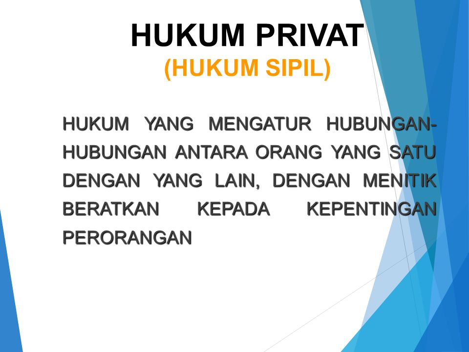 HUKUM PRIVAT (HUKUM SIPIL)