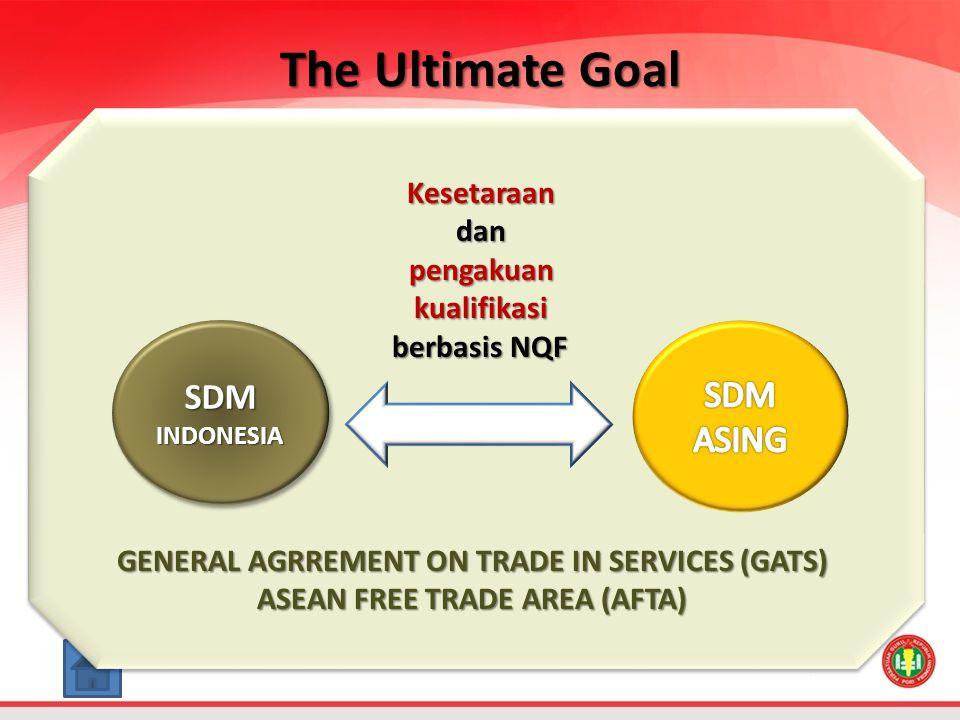 The Ultimate Goal SDM SDM ASING Kesetaraan dan pengakuan kualifikasi