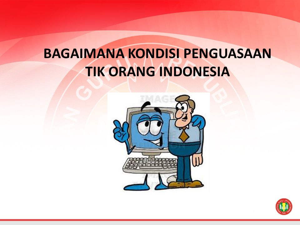 BAGAIMANA KONDISI PENGUASAAN TIK ORANG INDONESIA