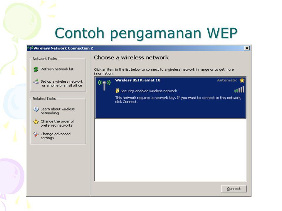 Contoh pengamanan WEP