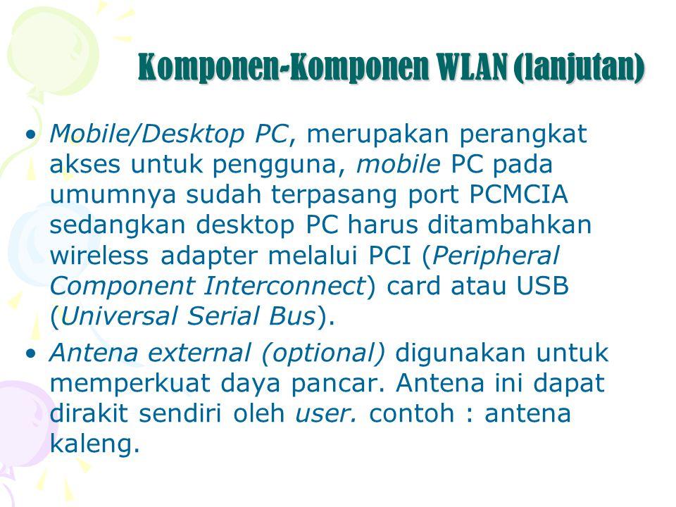 Komponen-Komponen WLAN (lanjutan)
