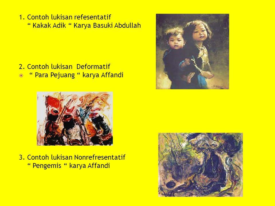 1. Contoh lukisan refesentatif
