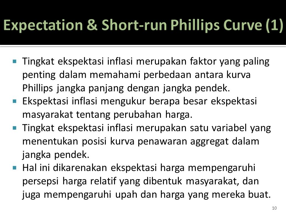 Expectation & Short-run Phillips Curve (1)