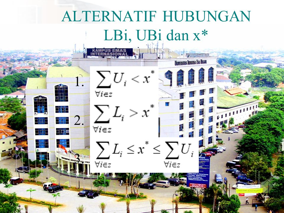 ALTERNATIF HUBUNGAN LBi, UBi dan x*