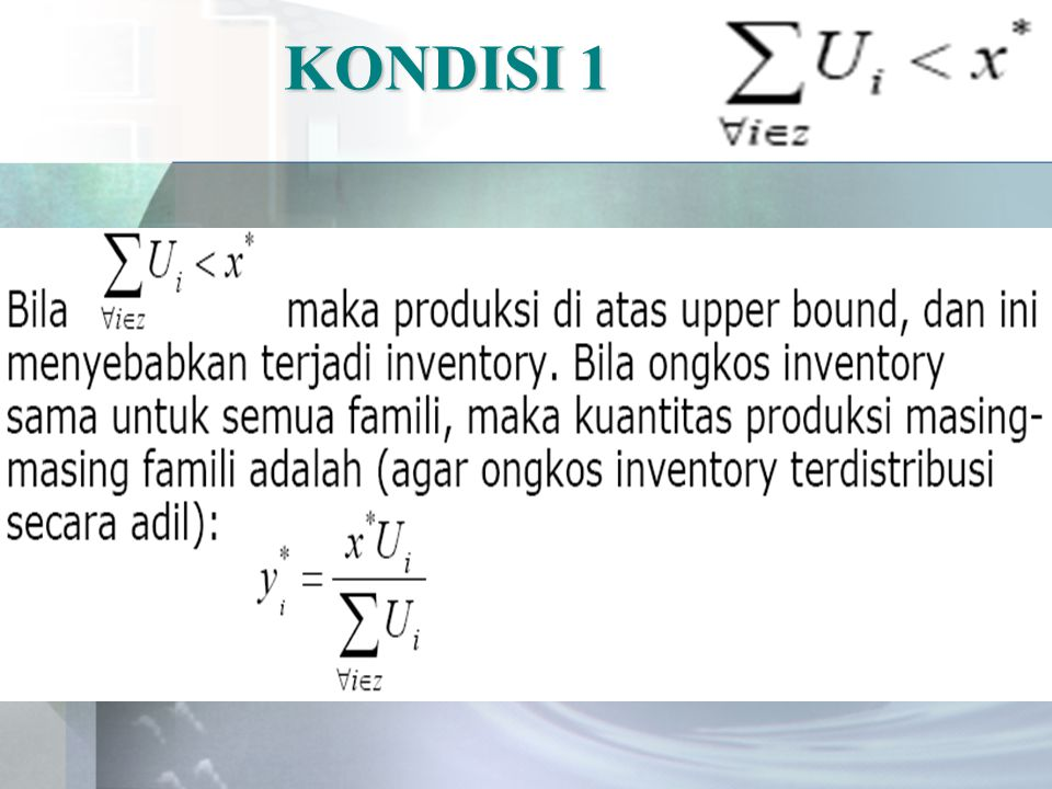 KONDISI 1
