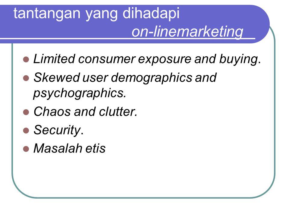 tantangan yang dihadapi on-linemarketing