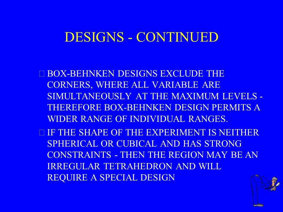 DESIGNS - CONTINUED
