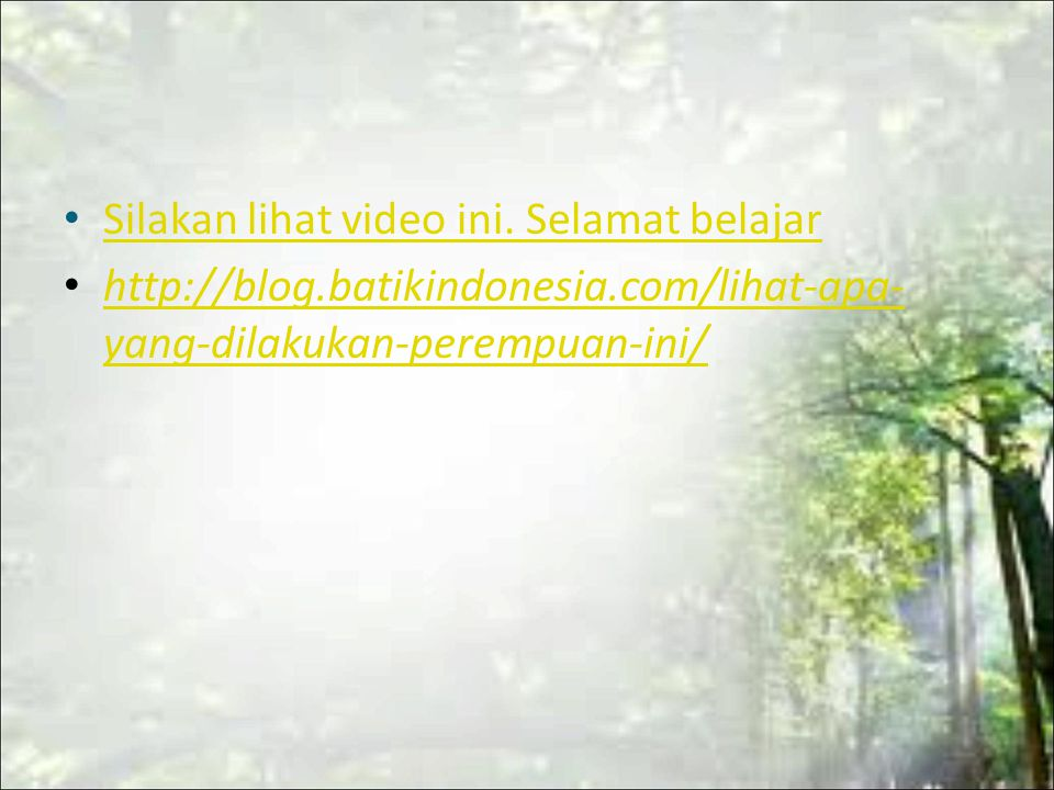 Silakan lihat video ini. Selamat belajar