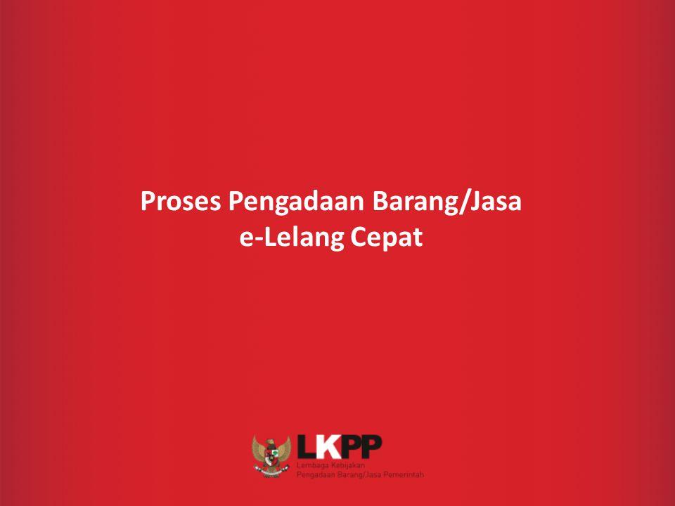 Proses Pengadaan Barang/Jasa