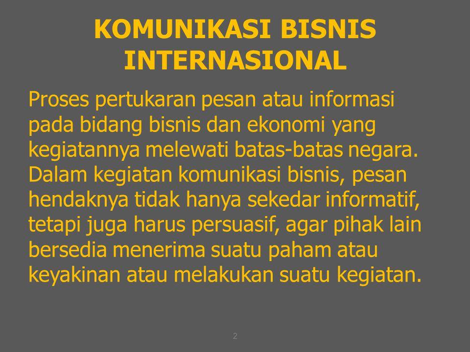 KOMUNIKASI BISNIS INTERNASIONAL