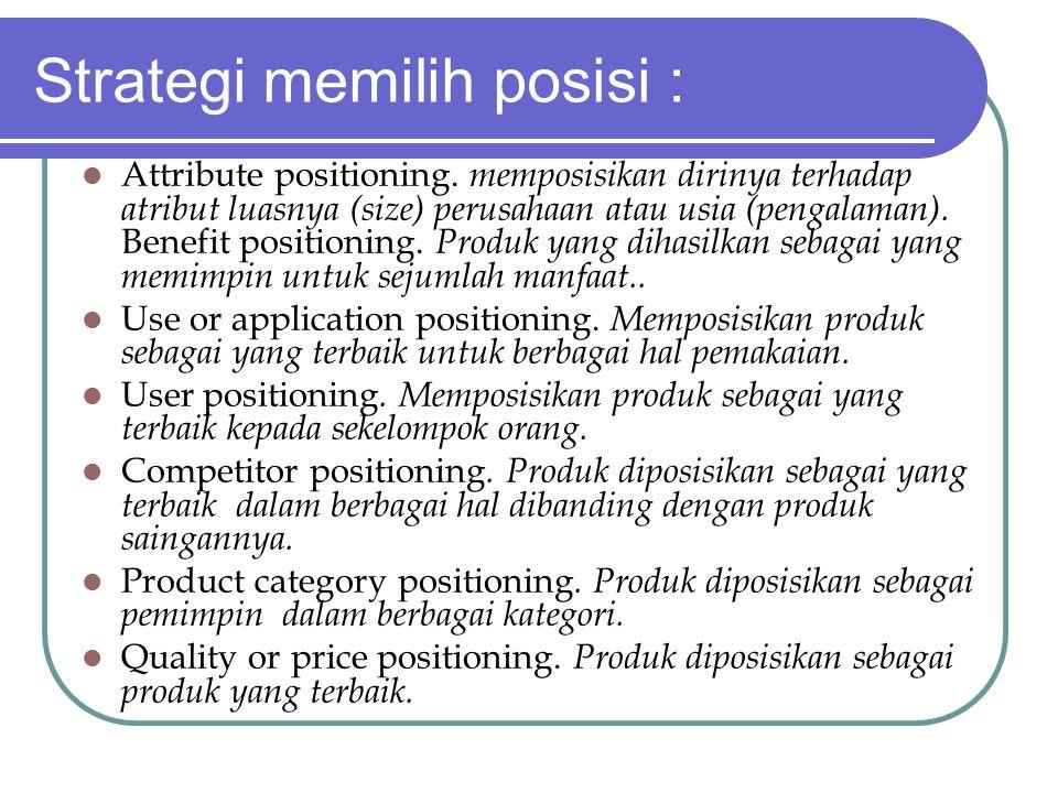 Strategi memilih posisi :