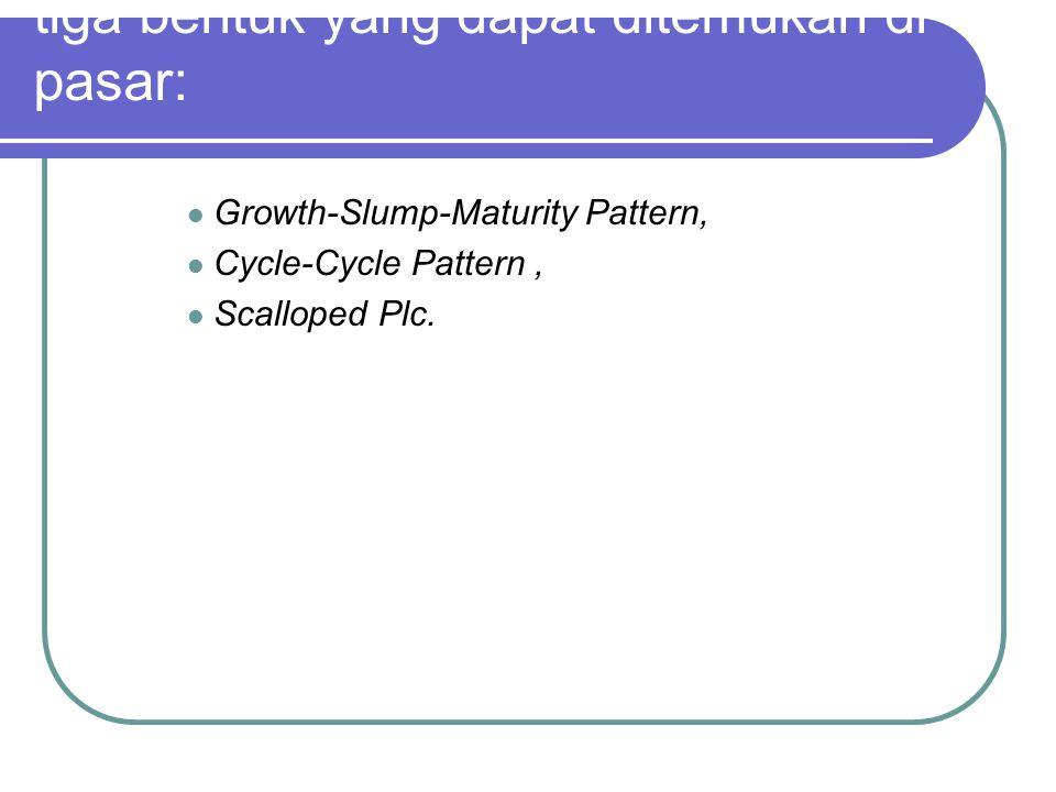 tiga bentuk yang dapat ditemukan di pasar: