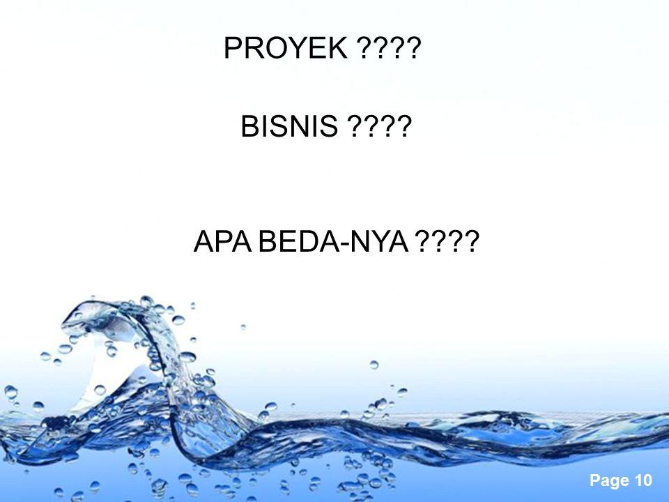 PROYEK BISNIS APA BEDA-NYA