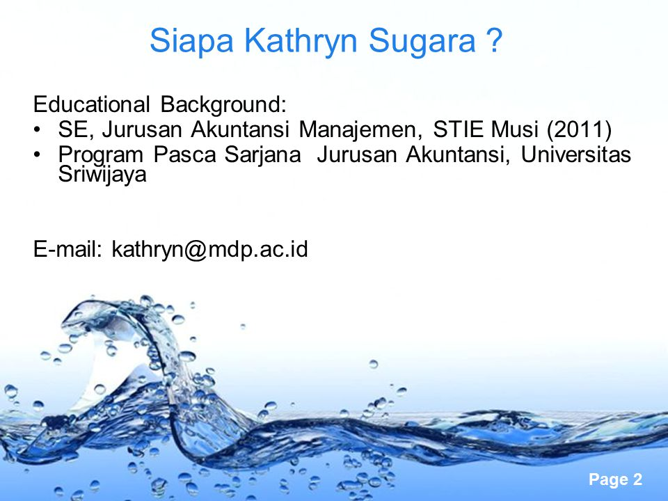 Siapa Kathryn Sugara Educational Background: