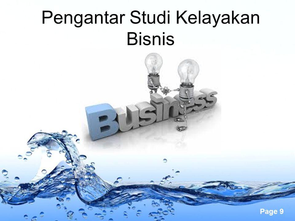 Pengantar Studi Kelayakan Bisnis