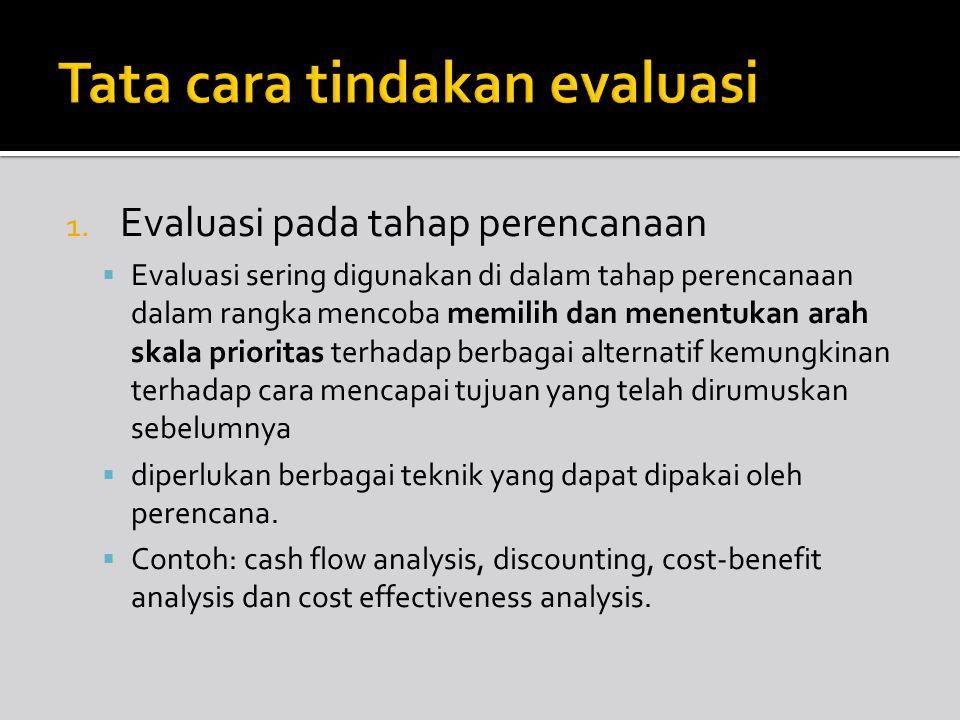 Tata cara tindakan evaluasi