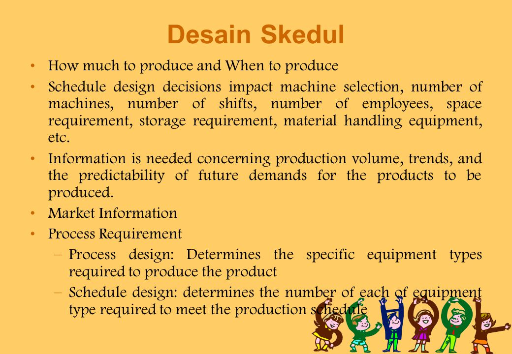 Desain Skedul How much to produce and When to produce