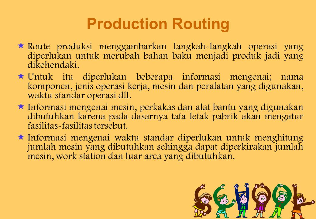 Production Routing