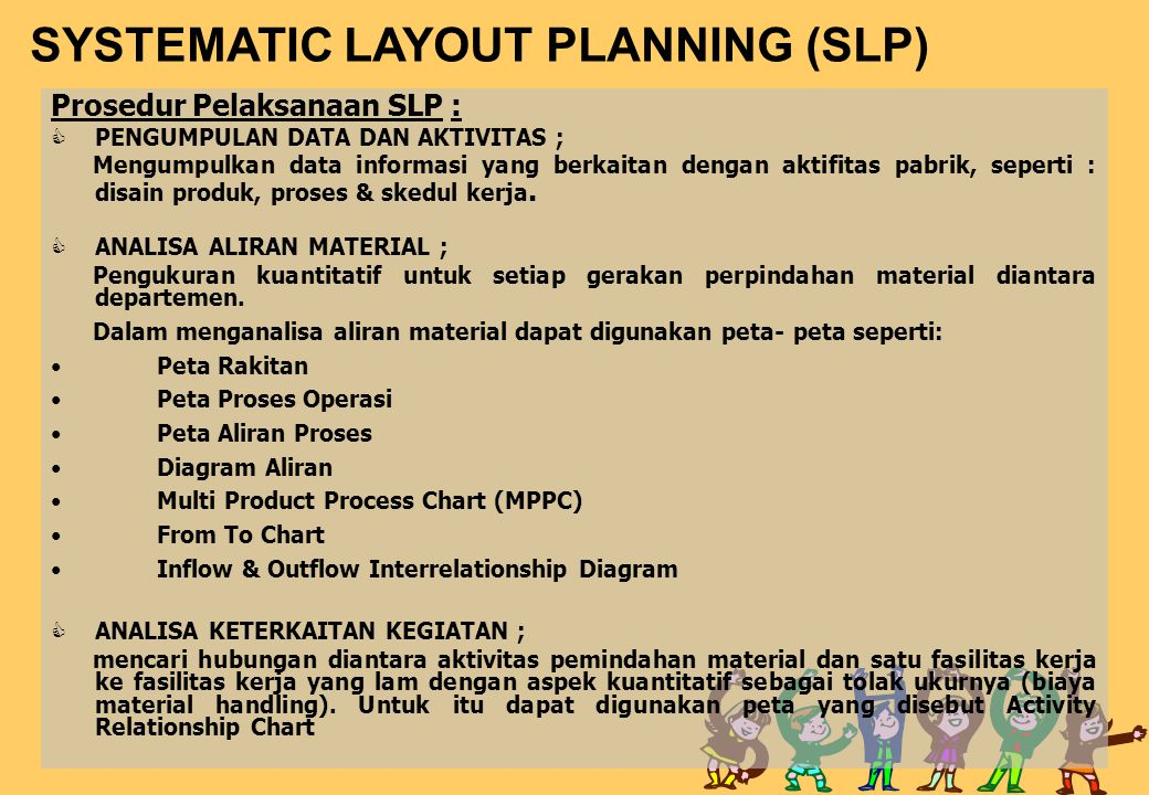 SYSTEMATIC LAYOUT PLANNING (SLP)