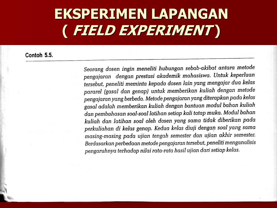EKSPERIMEN LAPANGAN ( FIELD EXPERIMENT )