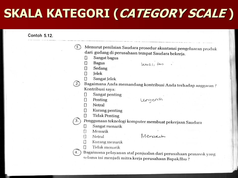 SKALA KATEGORI (CATEGORY SCALE )