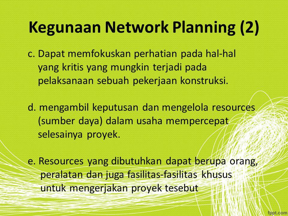 Kegunaan Network Planning (2)