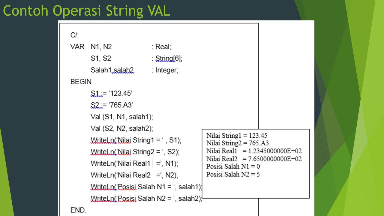 Contoh Operasi String VAL