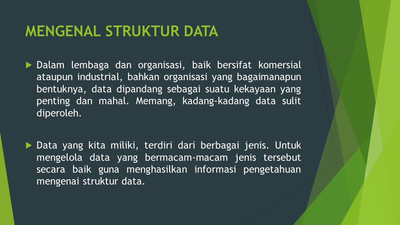 MENGENAL STRUKTUR DATA