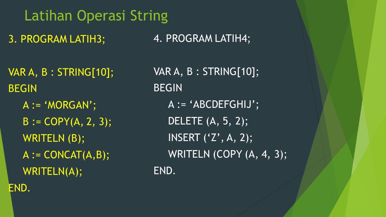 Latihan Operasi String