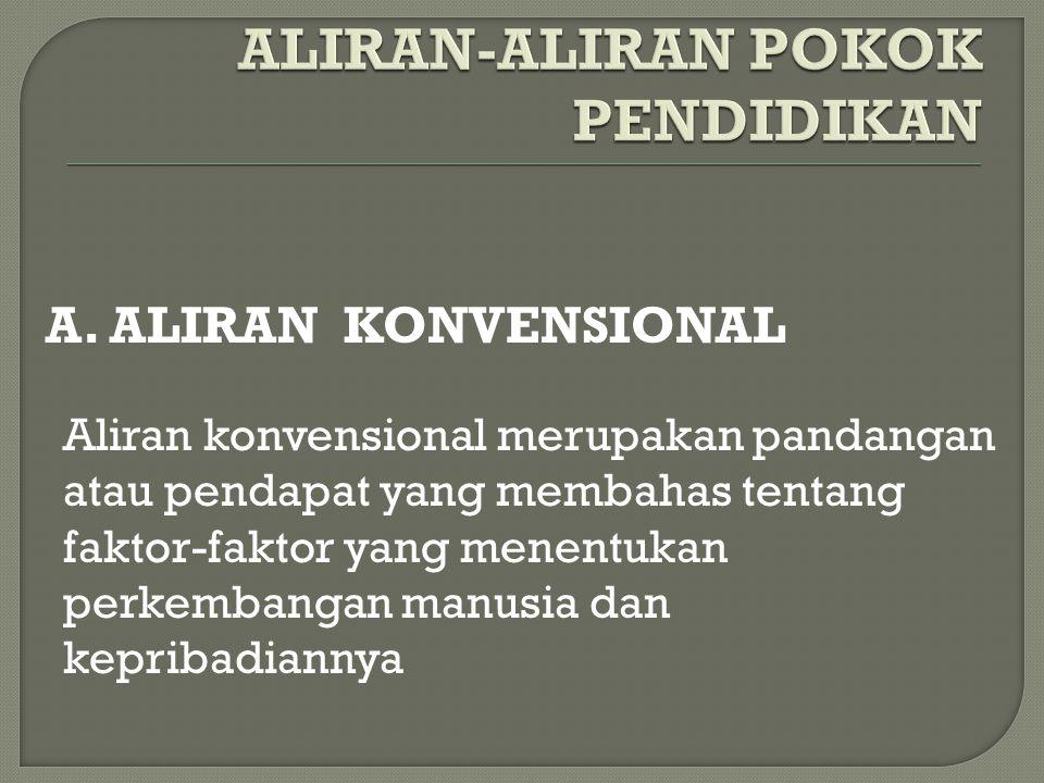 ALIRAN-ALIRAN POKOK PENDIDIKAN
